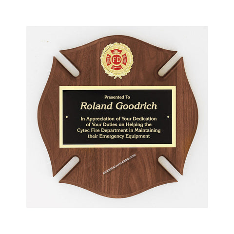 AT31 | Genuine Walnut Maltese Cross Plaque