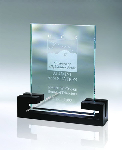 AT6850WD2  |  Retro Clear Glass Award for $ 75.00 at American Trophy & Award Company - Los Angeles, CA 90022