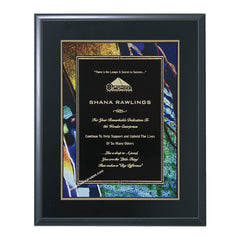 BF802 Ebony Finish Award Plaque - American Trophy & Award Company - Los Angeles, CA 90012