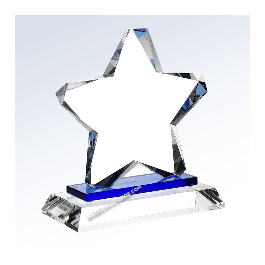 C1201 Blue Twinkle Star Crystal Trophy - American Trophy & Award Company - Los Angeles, CA 90022