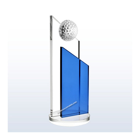 Crystal Blue Success Golf Award|Style C1223G