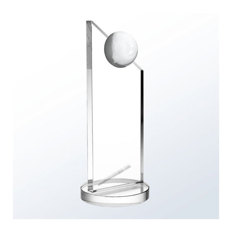 C1226 | Crystal Apex Globe Award