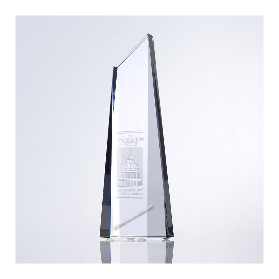 C143 Crystal Polygon Obelisk Award - American Trophy & Award Company - Los Angeles, CA 90022