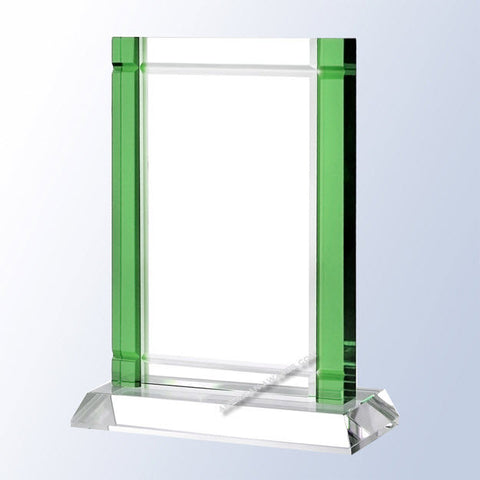 C1650 Green Deco Crystal Award
