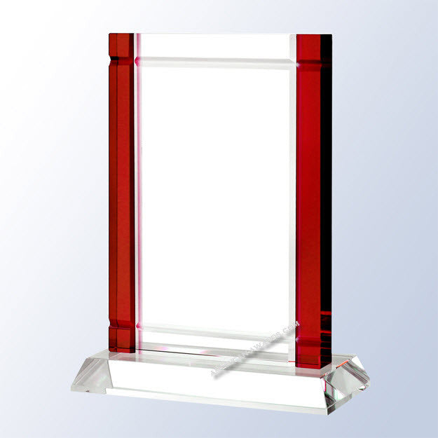 C1651 Red Deco Optic Crystal Award - American Trophy & Award Company - Los Angeles, CA 90022