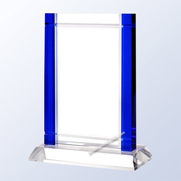 C1653 Blue Deco Crystal Award