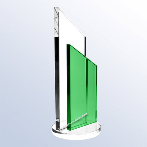 C1660 Green Success Crystal Award