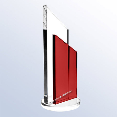 C1661 Red Success Crystal Award for $ 149.00 at American Trophy & Award Company - Los Angeles, CA 90022