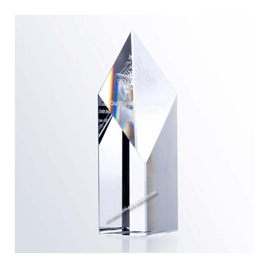 C236 Crystal Super Diamond Tower Award - American Trophy & Award Company - Los Angeles, CA 90022