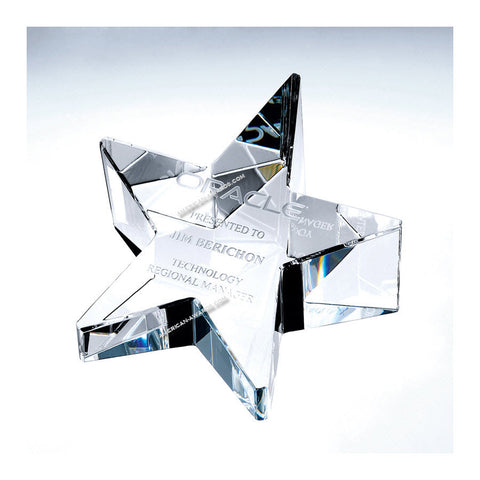 Crystal Slant Star Paperweight|C606 for $ 59.00 at American Trophy & Award Company - Los Angeles, CA 90022