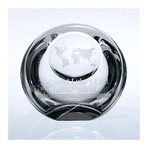 Crystal Globe Dome Paperweight|Style C669
