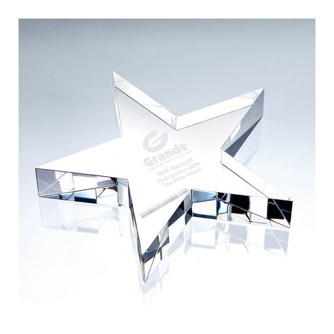 Crystal Flat Star Paperweight|C677