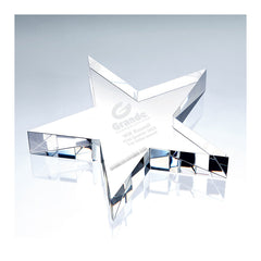 C677 Crystal Flat Star Paperweight:American Trophy & Award Company Los Angeles, CA