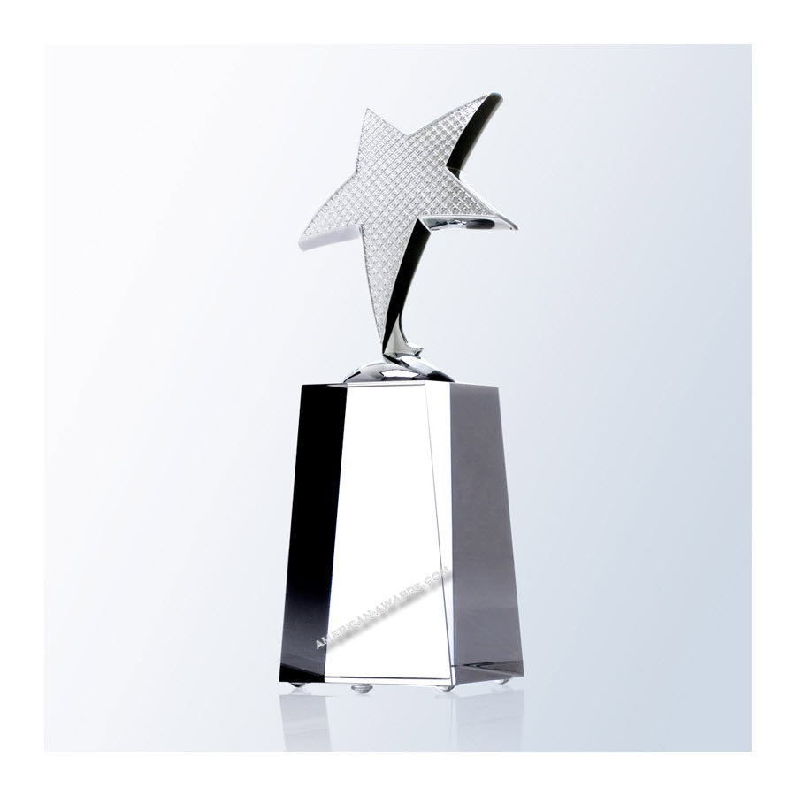 C8116 Optic Crystal Shooting Star Award:American Trophy & Award Company Los Angeles, CA