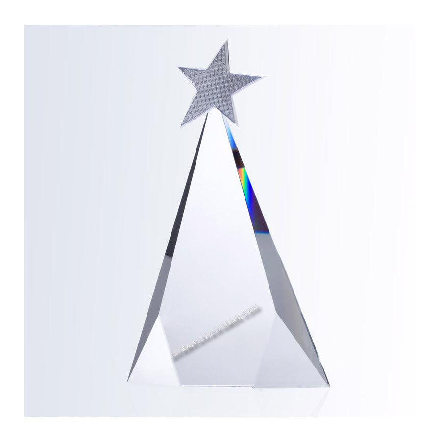 C8122 Optic Crystal Metal Shooting Star Award:American Trophy & Award Company Los Angeles, CA