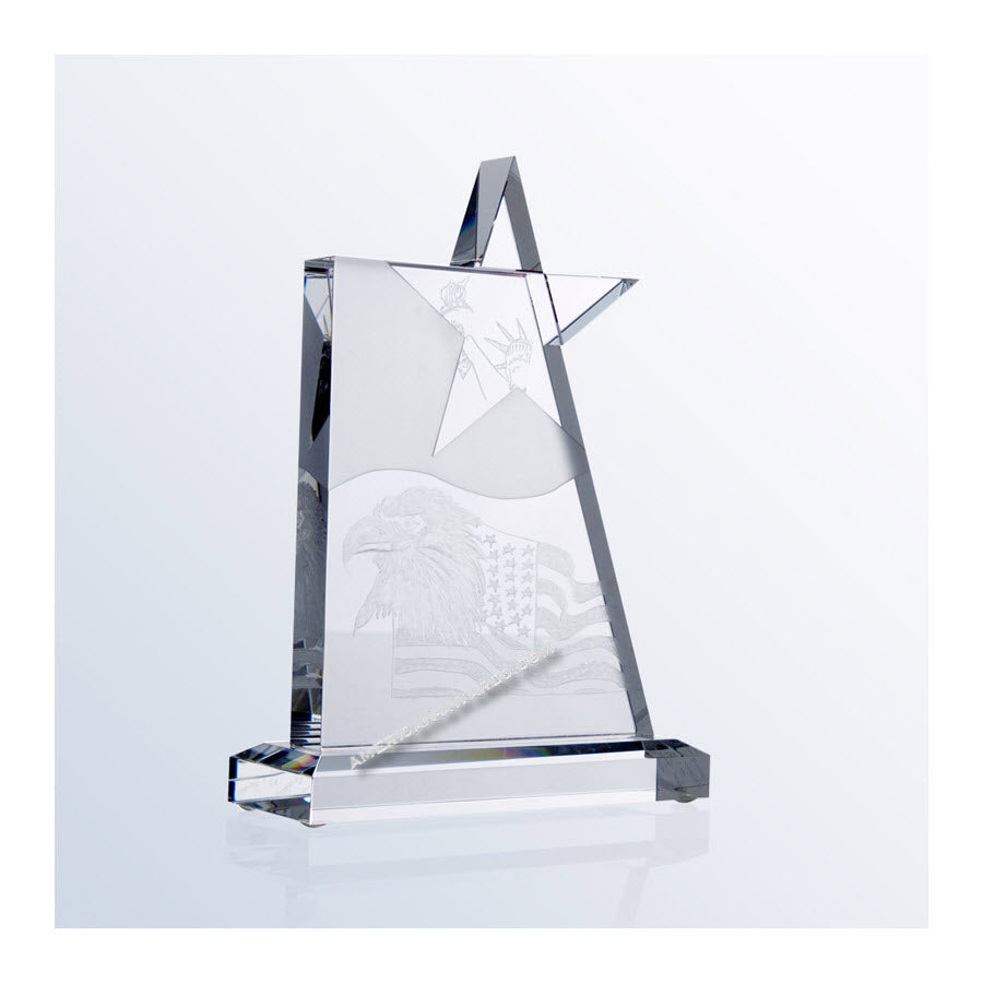 C911M Crystal Waving Star Award:American Trophy & Award Company Los Angeles, CA