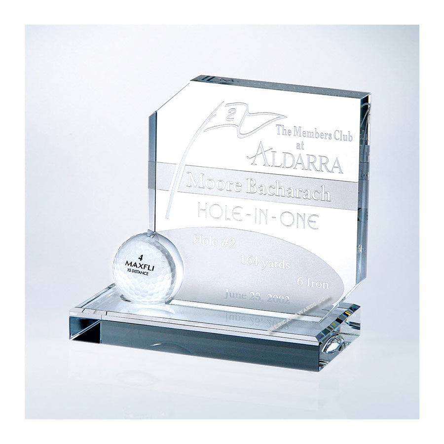 C914 Optic Crystal Hole In One Award - American Trophy & Award Company - Los Angeles, CA 90022