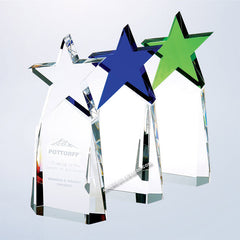 C9303 Optic Crystal Triumphant Star Award - American Trophy & Award Company - Los Angeles, CA 90022