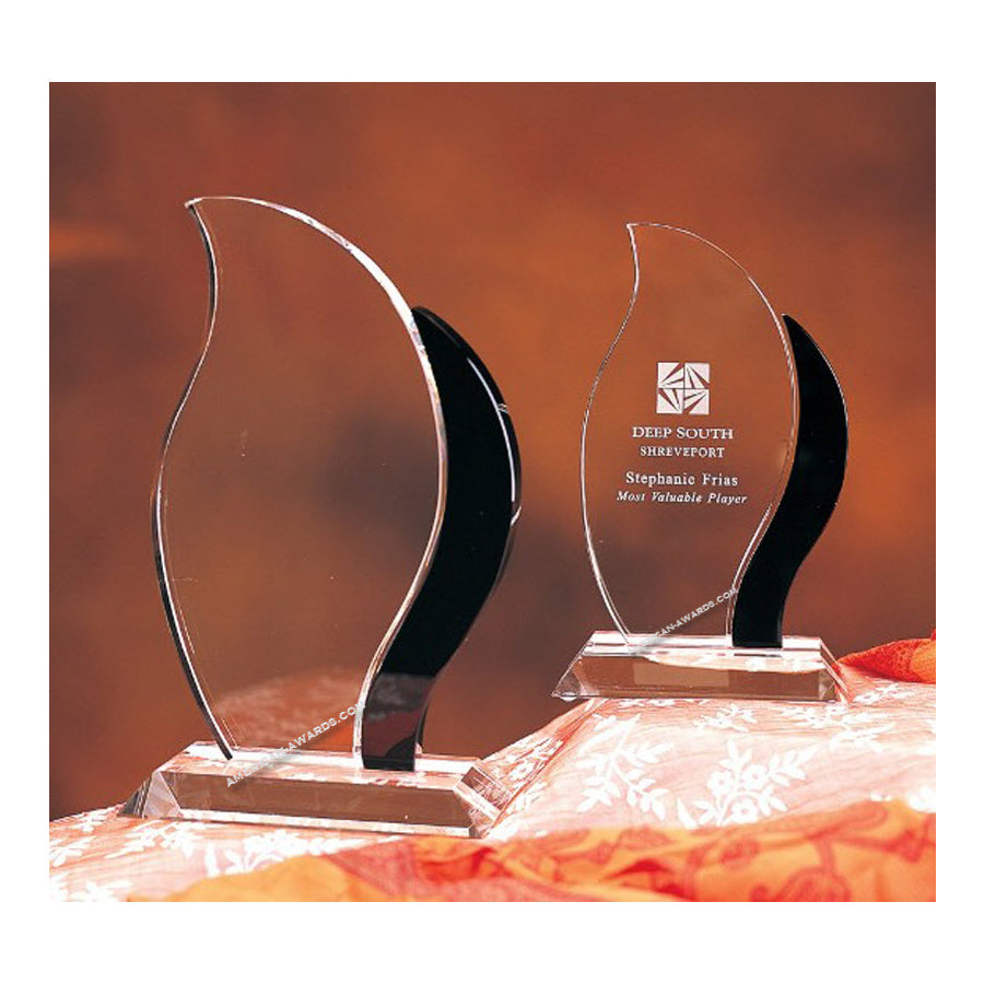 CAN60BK Artisan Crystal Flame Award  - American Trophy & Award Company - Los Angeles, CA 90022