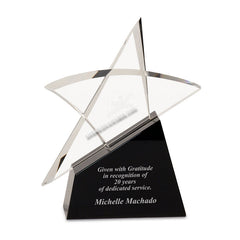 cry7105 Crystal Outline Star Award - American Trophy & Award Company - Los Angeles, CA 90022