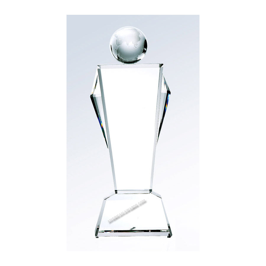 CS009 Optic Crystal Conqueror Award - American Trophy & Award Company - Los Angeles, CA 90022