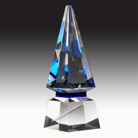 Blue Spire Crystal Award|E2898