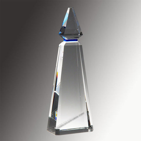 Blue Phineal Crystal Award|E2899 for $ 205.00 at American Trophy & Award Company - Los Angeles, CA 90022