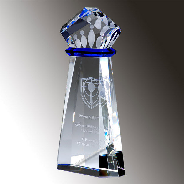 E2925 Crown Achievement Crystal Award - American Trophy & Award Company - Los Angeles, CA 90022