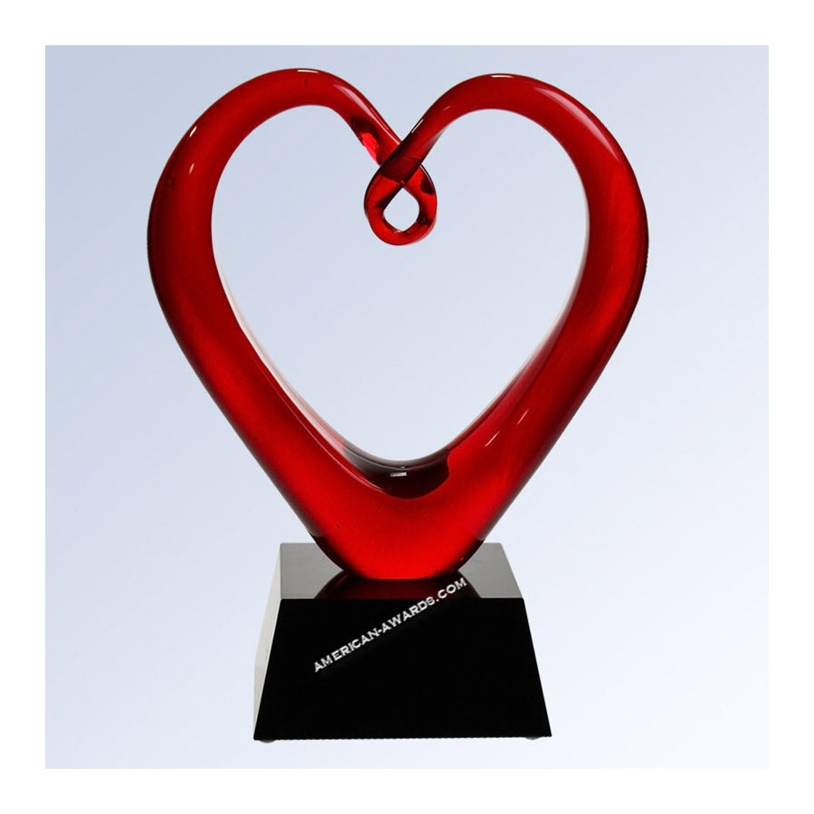 G1610 Whole Heartedly Art Glass - American Trophy & Award Company - Los Angeles, CA