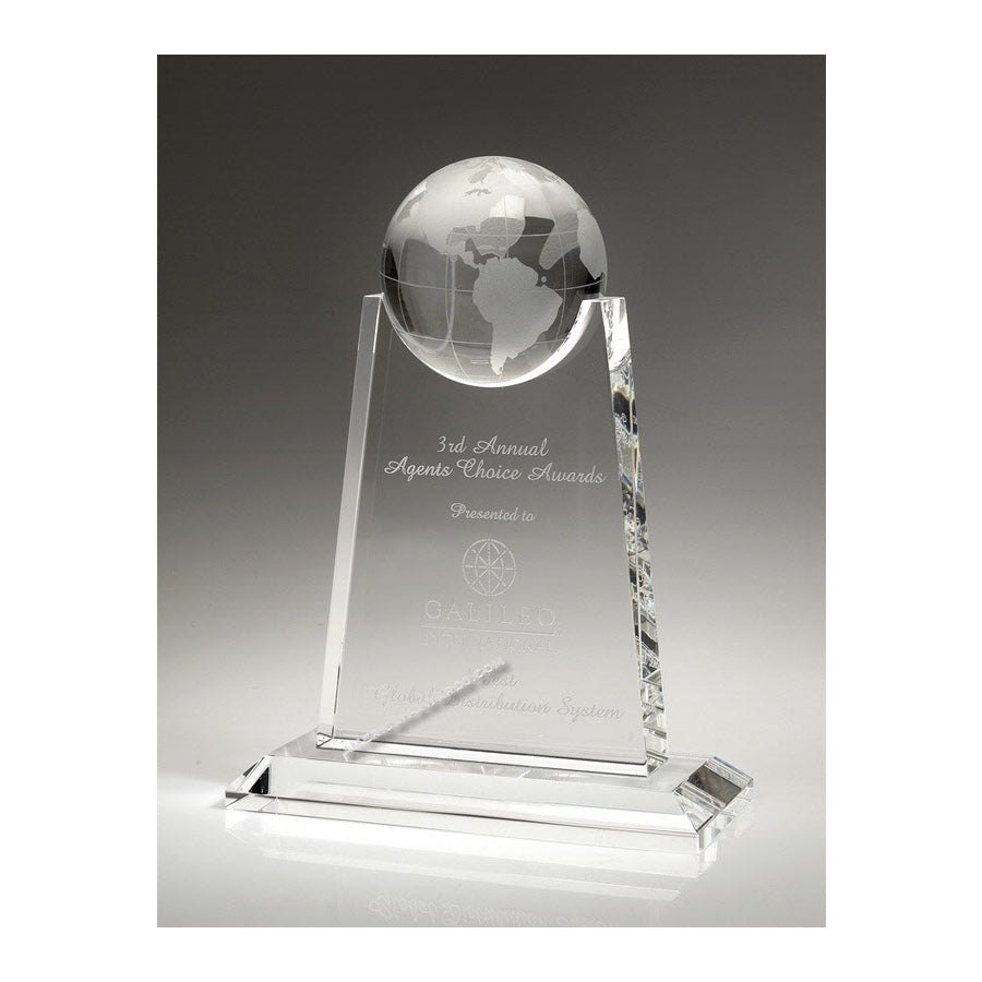 OCBC01 Crystal Paramount World Globe Award - American Trophy & Award Company - Los Angeles, CA 90022
