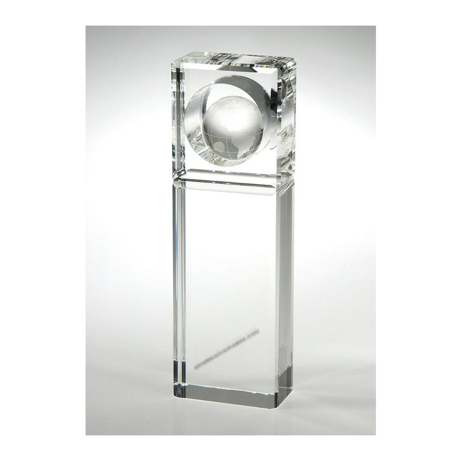 OCGL7010 Crystal Absolute World Globe Award-American Trophy & Award Company - Los Angeles, CA 90022