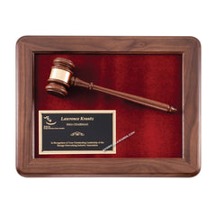 P202 Genuine Walnut Gavel Mounted Plaque - American Trophy & Award Company - Los Angeles, CA 90022