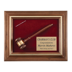 15G Walnut Gavel Presentation - American Trophy & Award Company - Los Angeles, CA 90012