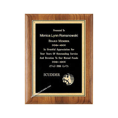 P2926 Genuine Walnut Recognition Plaque - American Trophy & Award Company - Los Angeles, CA 90022