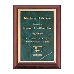 P3522 Airflyte Cherry-finish Award Plaque - American Trophy & Award Company - Los Angeles, CA 90022