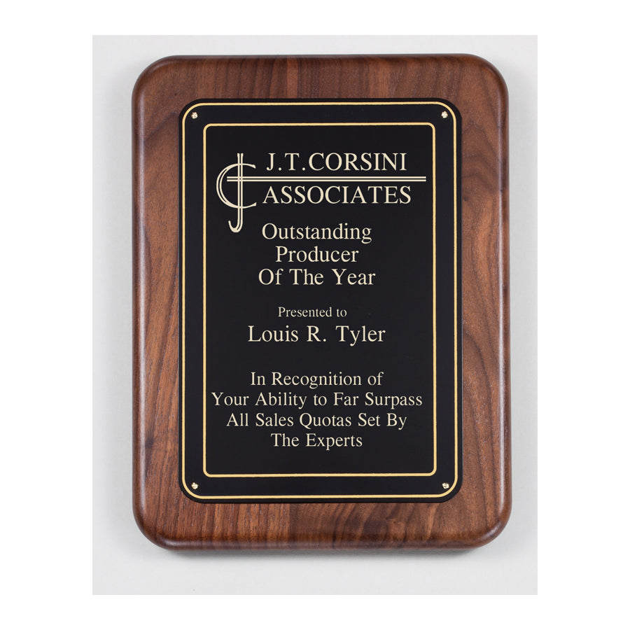 PC521 Walnut Recognition Plaque - American Trophy & Award Company - Los Angeles, CA 90022