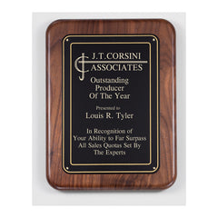 PC521 Walnut Recognition Plaque - American Trophy & Award Company - Los Angeles, CA 90012