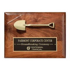 PC532 Genuine Walnut Shovel Plaque - American Trophy & Award Company - Los Angeles, CA 90012