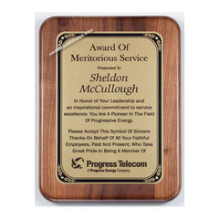 PC585 Walnut Recognition Plaque - American Trophy & Award Company - Los Angeles, CA 90012