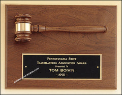 PG2782 Parliament Series Walnut Gavel Mounted Plaque - American Trophy & Award Company - Los Angeles, CA 90022