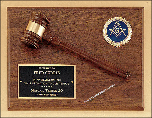 PG2784/X Parliament Series Gavel Plaques