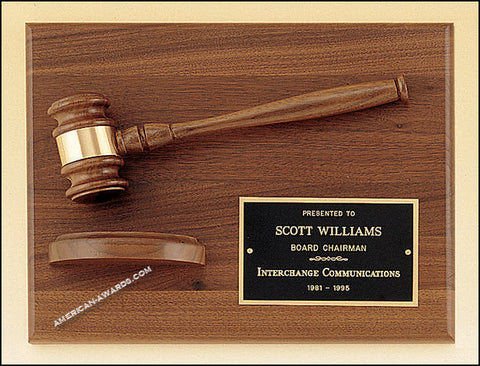 PG2786 Parliament Series Gavel Plaques