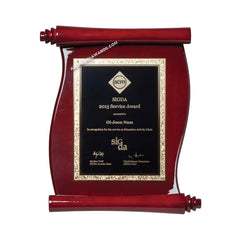 PSR40 Rosewood-finish Scroll Plaque - American Trophy & Award Company - Los Angeles, CA 90012