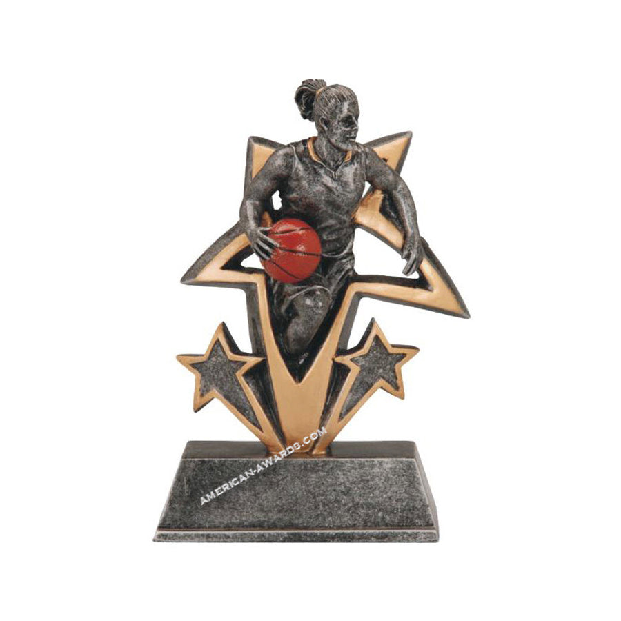 RF-3815 | Sports Star Resin Basketball Trophy for $ 9.75 at American Trophy & Award Company - Los Angeles, CA 90022
