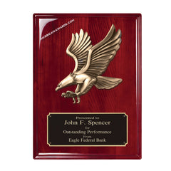 RP222 Rosewood Finish Eagle Recognition Plaque - American Trophy & Award Co - Los Angeles, CA 90012