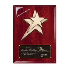 RP228 High Gloss Rosewood Award Plaque - American Trophy & Award Company - Los Angeles, CA 90012
