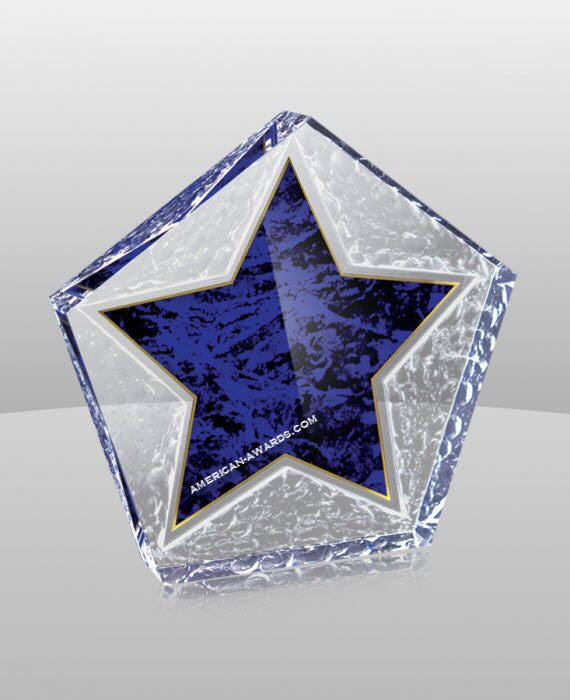 SB-638 Marble Star Acrylic Paperweight - American Trophy & Award Company - Los Angeles, CA 90022
