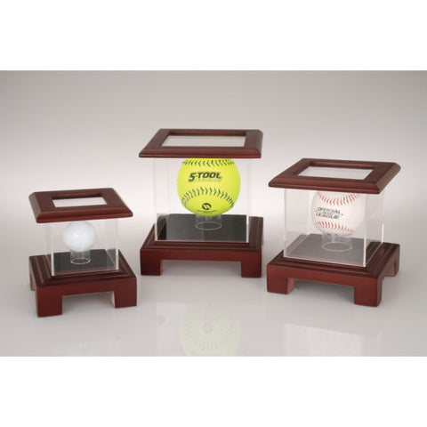 SCW-40 Cherry Wood-finish Sports Ball Case