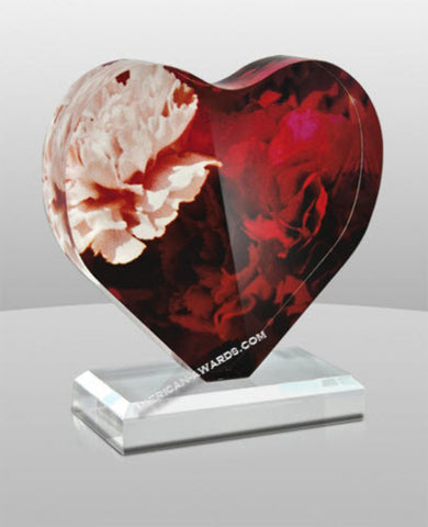 SM-332|Blossoming Heart Acrylic Award
