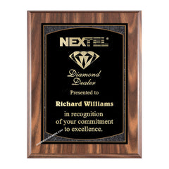 WF626 Walnut finish recognition plaque - American Trophy & Award Company - Los Angeles, CA 90022